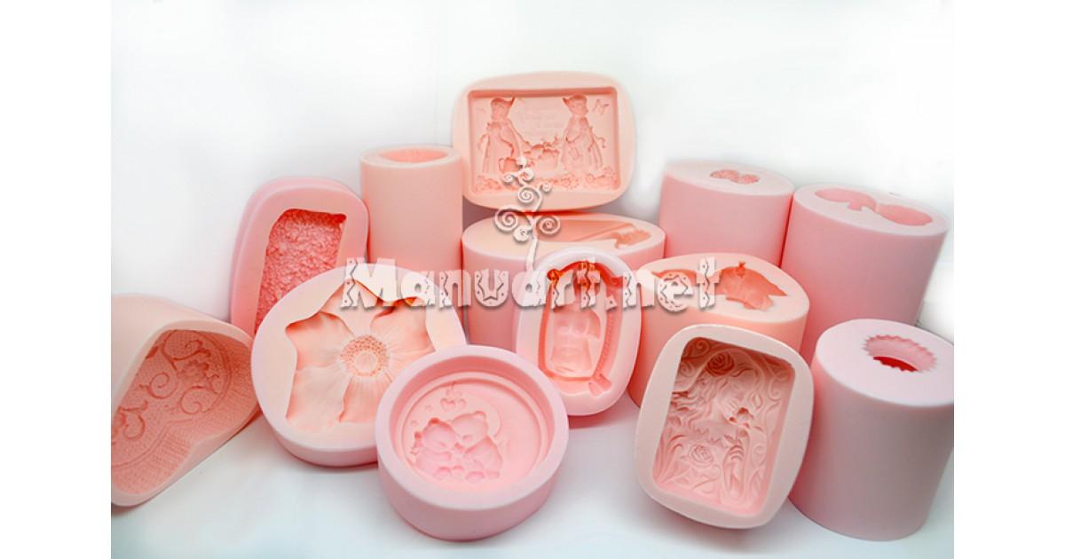 Nowość 💚 Formy silikonowe do wyrobu mydła, świec🕯 i figurek z gipsu!🇵🇱 TQ08