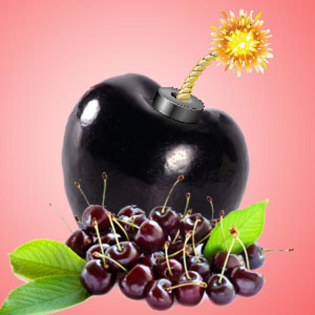 Olejek zapachowy - Czarna Wiśniowa bomba! - do produkcji świec, mydła, kremów, balsamów, toników i innych kosmetyków