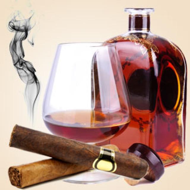 Olejek zapachowy - Koniak i cygara 30 ml - do produkcji świec, mydła, kremów, balsamów, toników i innych kosmetyków