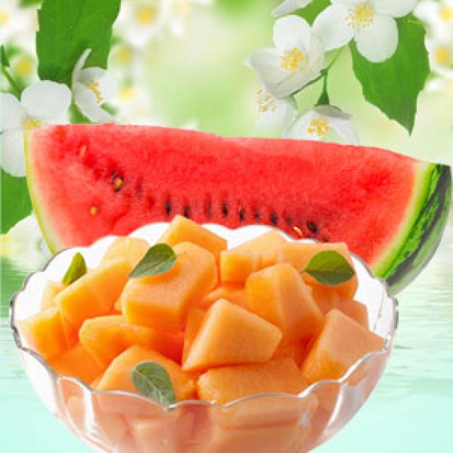 Olejek zapachowy - Melon, arbuz i jaśmin - do produkcji świec, mydła, kremów, balsamów, toników i innych kosmetyków