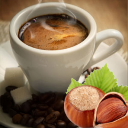 Kawa z orzechami w górach