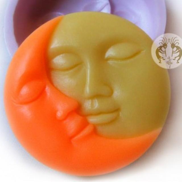 Forma silikonowa - Słońce i księżyc - do wyrobu mydła, świec i odlewów