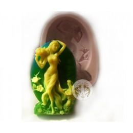 Forma silikonowa - Bogini wiosny i kwiatów - do wyrobu mydła, świec i odlewów