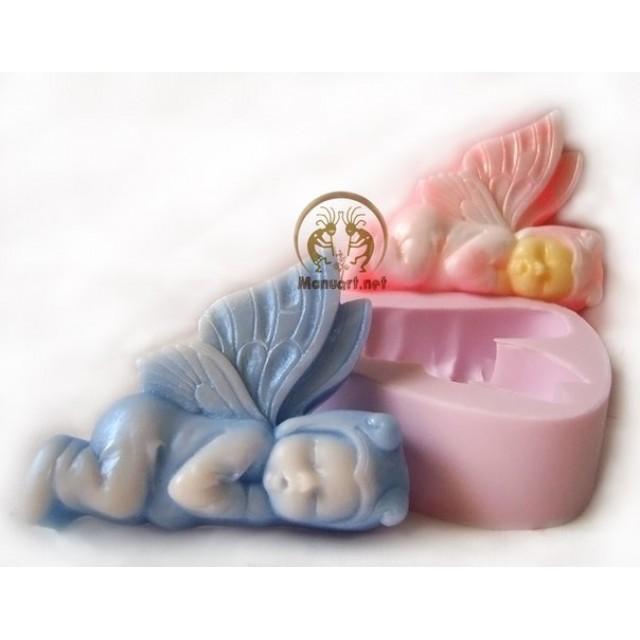 Forma silikonowa - Śpiący Elf - do wyrobu mydła, świec i odlewów