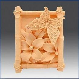 Motyl w bambusowej ramce