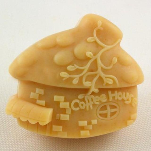 Forma silikonowa - Kawowy domek - do wyrobu mydła, świec i odlewów