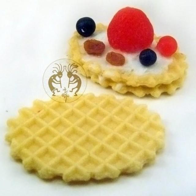 Forma silikonowa - Waflowe ciasteczka - do wyrobu mydła, świec i odlewów
