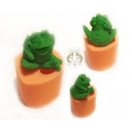 Forma silikonowa - Ropucha 3D - do wyrobu mydła, świec i odlewów