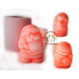 Forma silikonowa - Miły Święty Mikołaj 3D - do wyrobu mydła, świec i odlewów