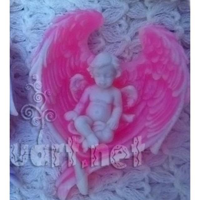 Forma silikonowa - Anioł w skrzydłach № 2 - do wyrobu mydła, świec i odlewów