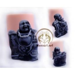Forma silikonowa - Budda z manuskryptem 3D - do wyrobu mydła, świec i odlewów