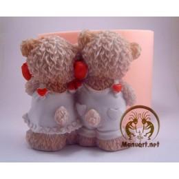 Forma silikonowa - Miszkina miłość 3D - do wyrobu mydła, świec i odlewów