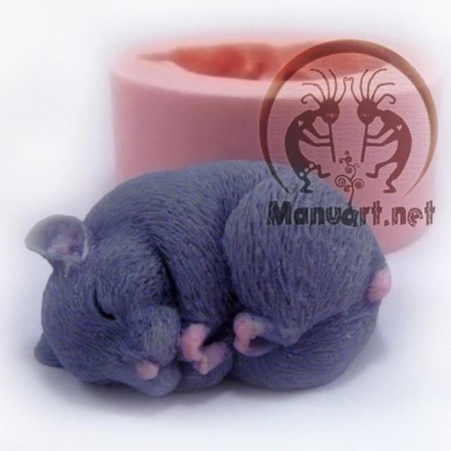 Forma silikonowa - Chomik śpi 3D - do wyrobu mydła, świec i odlewów