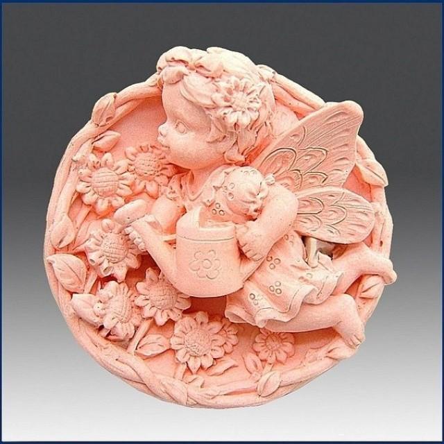 Forma silikonowa - Wróżka polewa cwiety - do wyrobu mydła, świec i odlewów