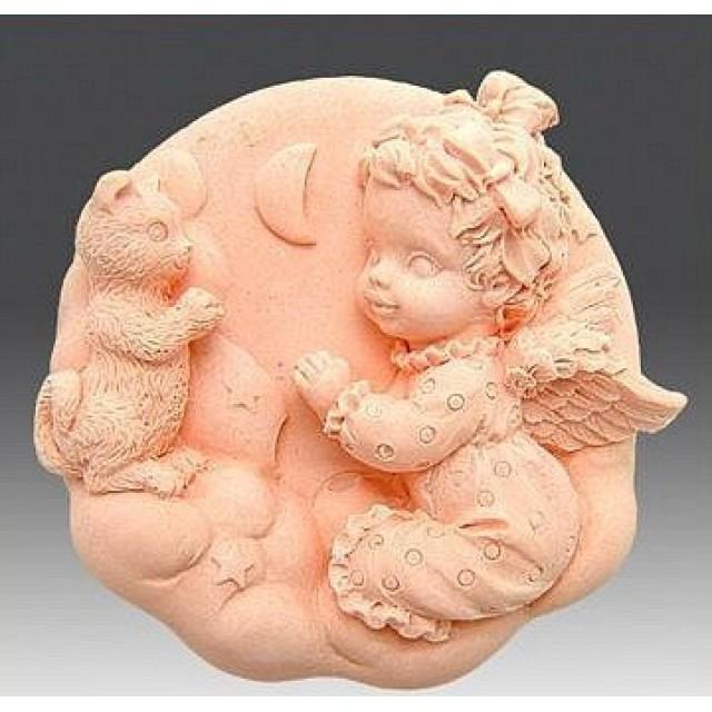 Forma silikonowa - Anioł z kotkiem - do wyrobu mydła, świec i odlewów