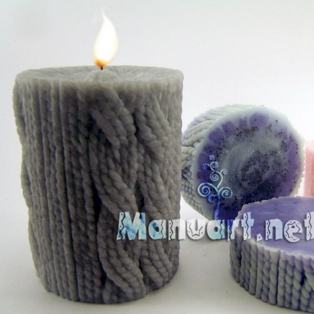 Forma silikonowa - Wiązana świeca - do wyrobu mydła, świec i odlewów