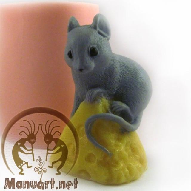 Forma silikonowa - Pacha na serze siedzi - do wyrobu mydła, świec i odlewów
