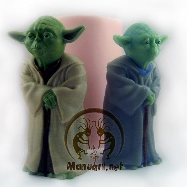 Forma silikonowa - Yoda 3D - do wyrobu mydła, świec i odlewów