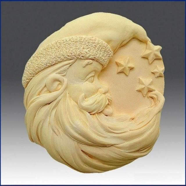 Forma silikonowa - Santa z gwiazdami - do wyrobu mydła, świec i odlewów