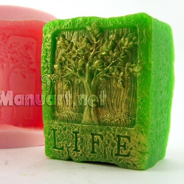 Forma silikonowa - Drzewo Życia - do wyrobu mydła, świec i odlewów