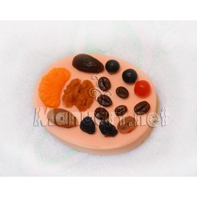 Forma silikonowa - Jagodowy komplet № 1 - do wyrobu mydła, świec i odlewów
