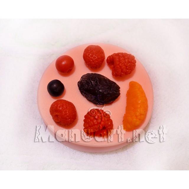 Forma silikonowa - Jagodowy komplet № 2 - do wyrobu mydła, świec i odlewów