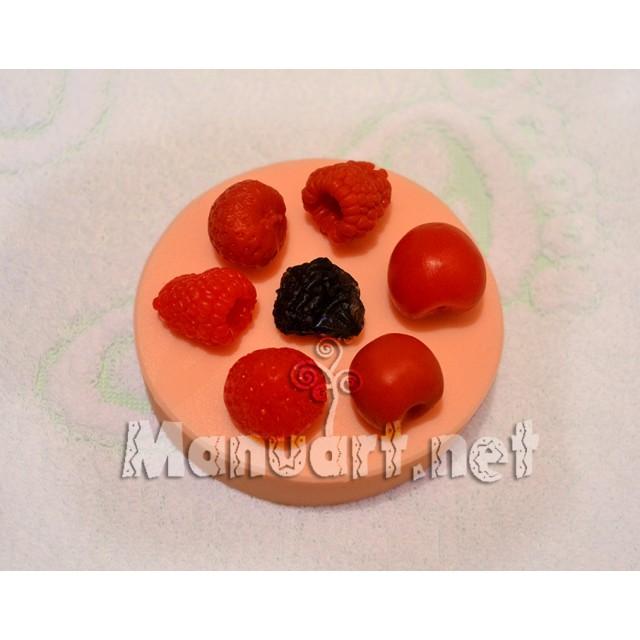 Forma silikonowa - Jagodowy komplet № 3 - do wyrobu mydła, świec i odlewów