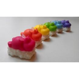 Forma silikonowa - Hippo na chmurze - do wyrobu mydła, świec i odlewów