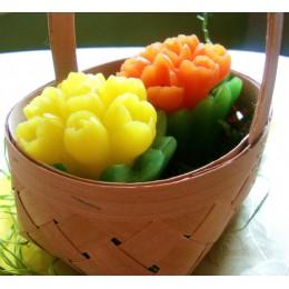 Forma silikonowa - Bukiet tulipanów - do wyrobu mydła, świec i odlewów