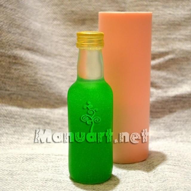 Forma silikonowa - Butelka 3D № 2 - do wyrobu mydła, świec i odlewów