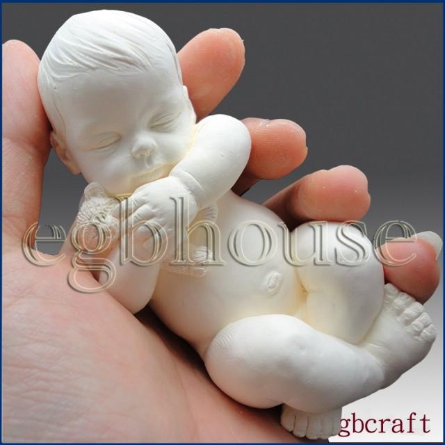 Forma silikonowa - Dziecko z misiem 3D - do wyrobu mydła, świec i odlewów