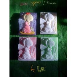 Forma silikonowa - Dziewczynka anioł 2D - do wyrobu mydła, świec i odlewów