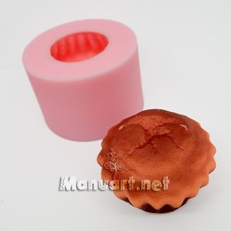 Forma silikonowa - Keks 3D - do wyrobu mydła, świec i odlewów