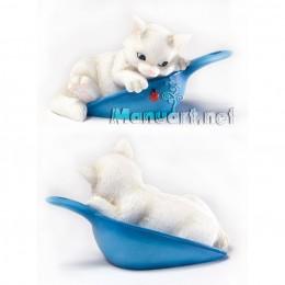 Forma silikonowa - Kociak w sowoczkie 3D - do wyrobu mydła, świec i odlewów