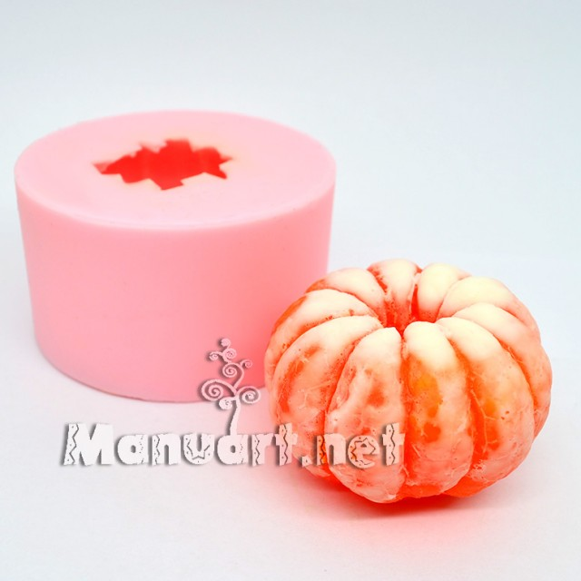 Forma silikonowa - Mandarynka oczyszczona 3D - do wyrobu mydła, świec i odlewów