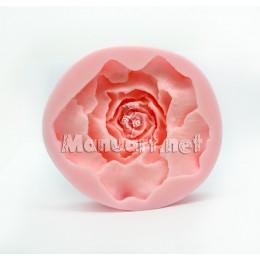 Forma silikonowa - Róża 3D - do wyrobu mydła, świec i odlewów