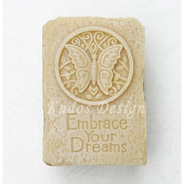 Forma silikonowa - Przyjmij swoje marzenia (motyl) 2D - do wyrobu mydła, świec i odlewów