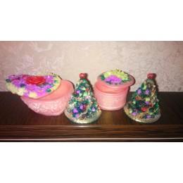 Forma silikonowa - Choinka 2D - do wyrobu mydła, świec i odlewów