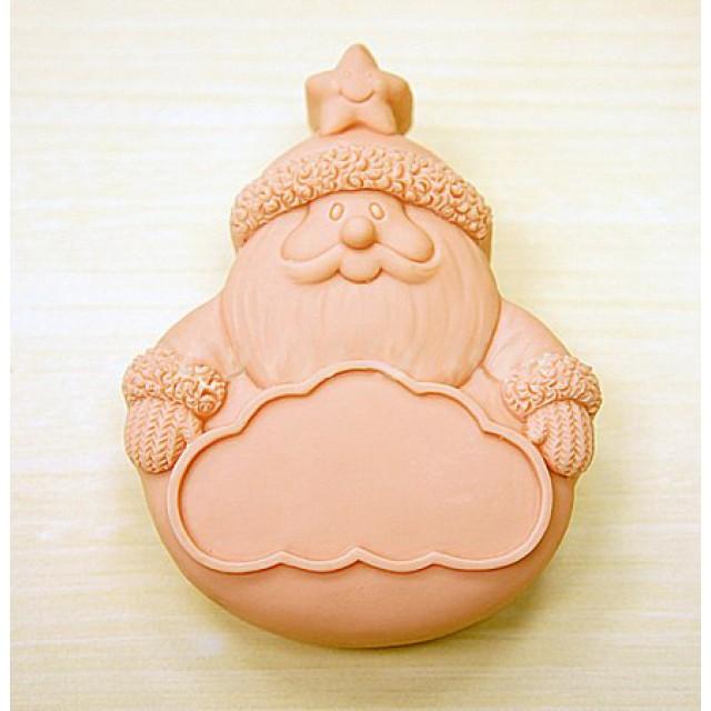 Forma silikonowa - Santa z tabliczką - do wyrobu mydła, świec i odlewów