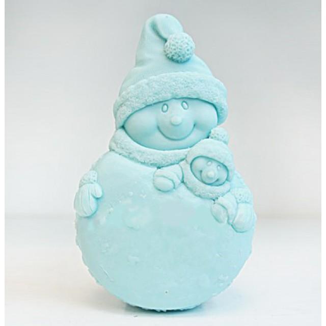 Forma silikonowa - Bałwan uśmiechnięty - do wyrobu mydła, świec i odlewów