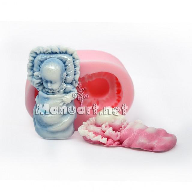 Forma silikonowa - Malec na poduszce pod odiejałkom - do wyrobu mydła, świec i odlewów