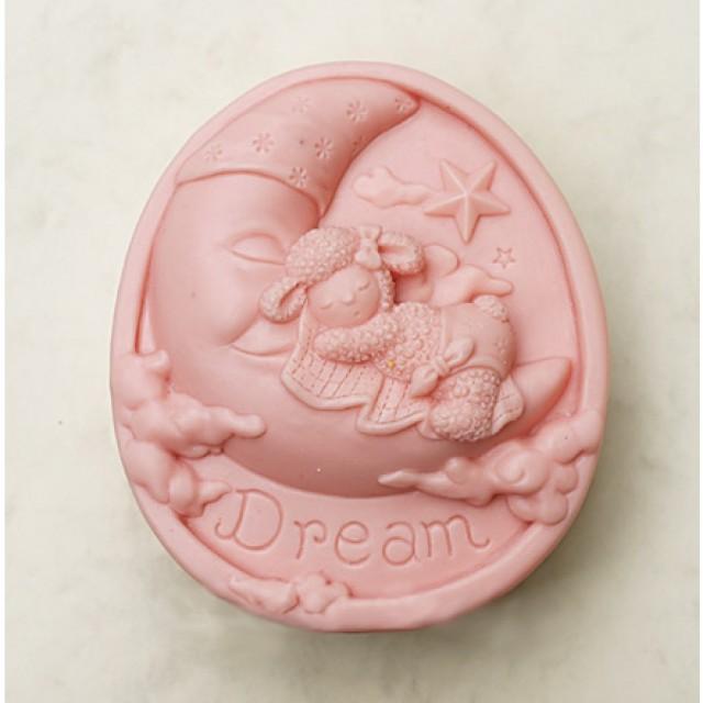 Forma silikonowa - Sen owieczki na księżycu - do wyrobu mydła, świec i odlewów