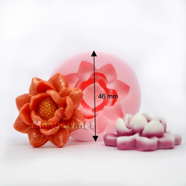Forma silikonowa - Mołd kwiat № 1 - do wyrobu mydła, świec i odlewów
