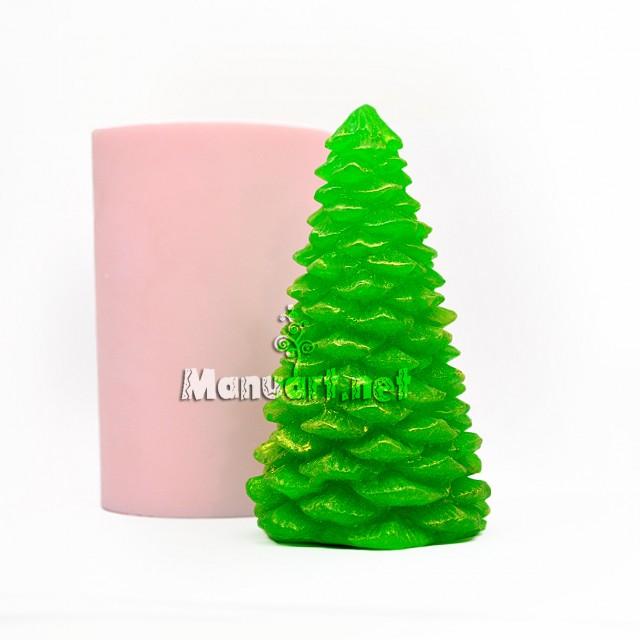 Forma silikonowa - Choinka noworoczna 3D - do wyrobu mydła, świec i odlewów