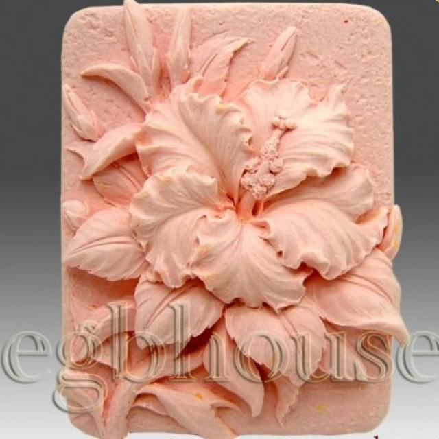 Forma silikonowa - Gibiskus - do wyrobu mydła, świec i odlewów
