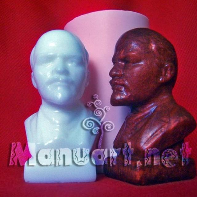 Forma silikonowa - Popiersie Lenina - do wyrobu mydła, świec i odlewów