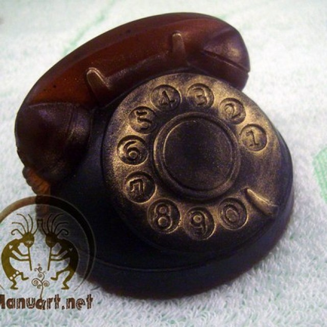 Forma silikonowa - Telefon 3D - do wyrobu mydła, świec i odlewów