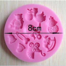 Forma silikonowa - Mołd dziecięcy komplet № 1 - do wyrobu mydła, świec i odlewów