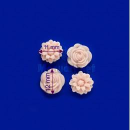 Forma silikonowa - Róże i chryzantemy, mini-formy - do wyrobu mydła, świec i odlewów