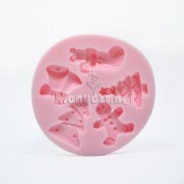 Forma silikonowa - Mołd Noworoczny komplet № 1 - do wyrobu mydła, świec i odlewów